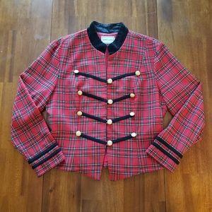 Vintage Misty Lane Red & Black Plaid Blazer